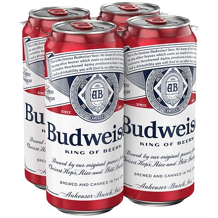 Budweiser Beer - 16 oz. x 4 pack