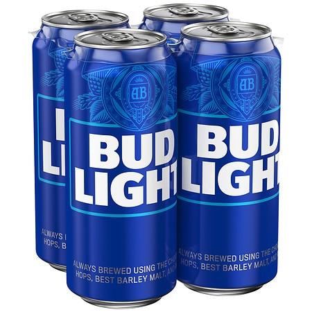 Bud Light Beer - 16 oz. x 4 pack