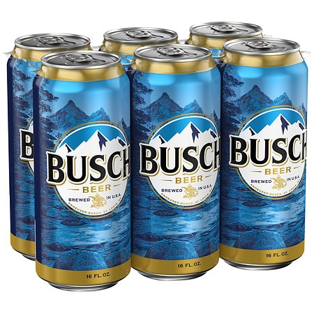 Busch Beer - 16 oz. x 6 pack
