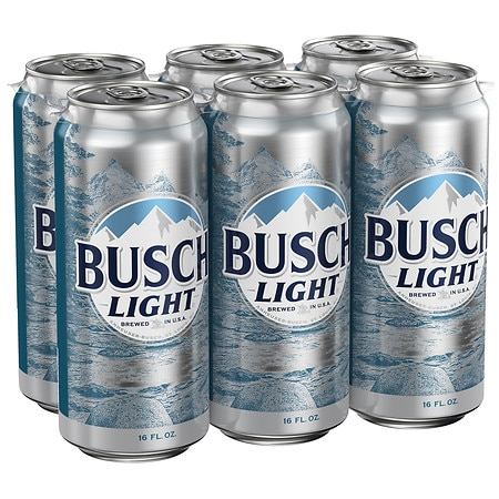 Busch Light Beer - 16 oz. x 6 pack