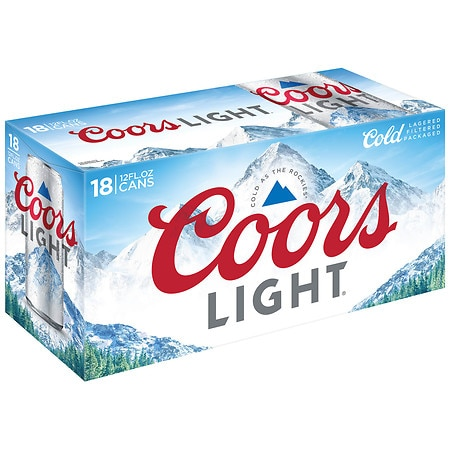 Coors Light Beer - 12 oz. x 18 pack
