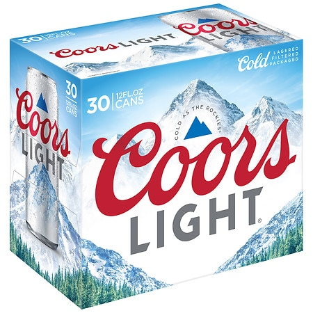 Coors Light Beer - 12 oz. x 30 pack