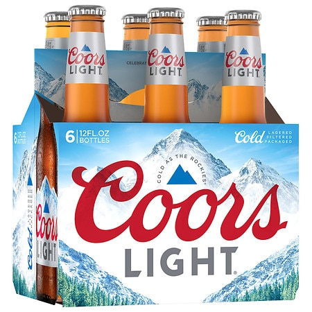 Coors Light Beer - 12 oz. x 6 pack