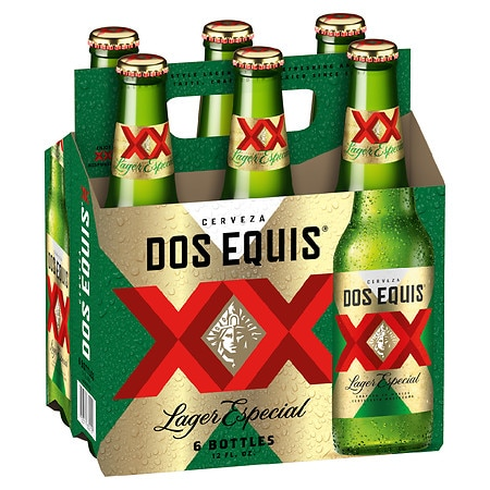 Dos Equis Lager Beer - 12 oz. x 6 pack
