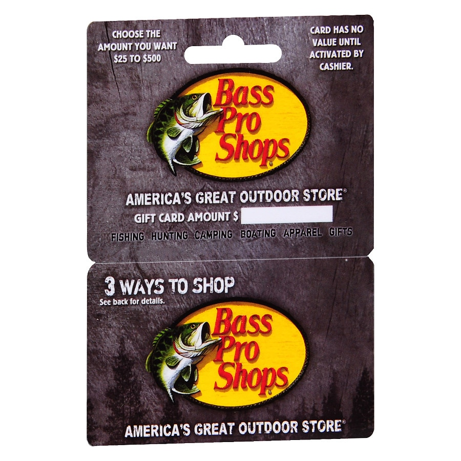 bass pro shop gift card balance bass pro shops non denominational gift card walgreens 2423
