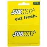 Subway Non-Denominational Gift Card