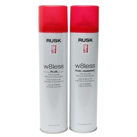 Rusk W8less Shaping & Control Hair Spray, Extra Strong Hold - 10 oz. x 2 pack
