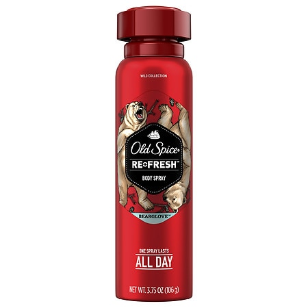 Old Spice Wild Collection Re-Fresh Deodorant Body Spray Bearglove