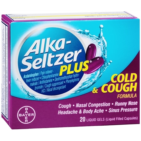 Alka-Seltzer Plus Cough & Cold Liquidgels - 20 ea