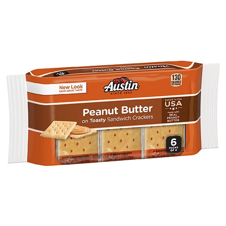 Austin Snack Pack On Toast Peanut Butter - 0.93 oz. x 6 pack