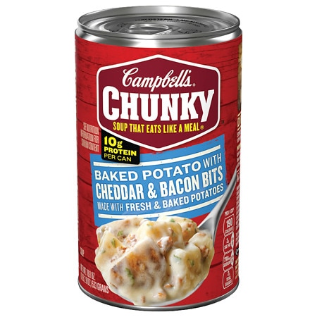 Campbell's Chunky Baked Potato with Cheddar & Bacon Bits Soup - 18.8 oz.