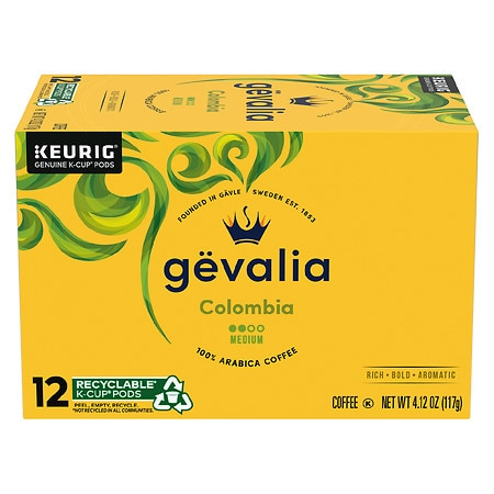 Image of Gevalia 100% Arabica Coffee K-Cups Colombia - 0.34 oz x 12 pack