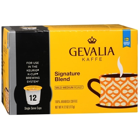 Image of Gevalia 100% Arabica Coffee K-Cups Signature Blend - 0.34 oz x 12 pack