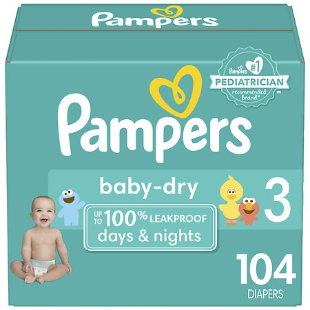 pampers baby dry diaper super pack 3 walgreens. Black Bedroom Furniture Sets. Home Design Ideas