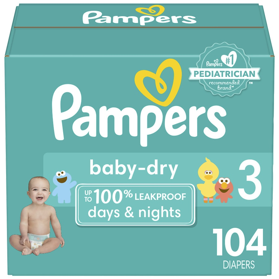 Pampers Baby Dry Diapers Size 3104ea