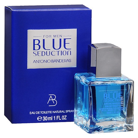 Puig Blue Seduction For Men Eau de Toilette Natural Spray - 1 oz.