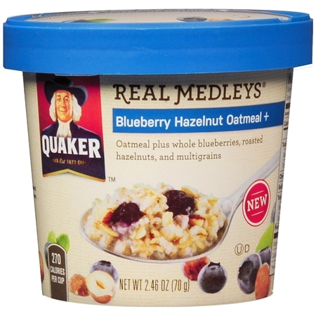 Quaker Real Medleys Oatmeal + Blueberry Hazelnut