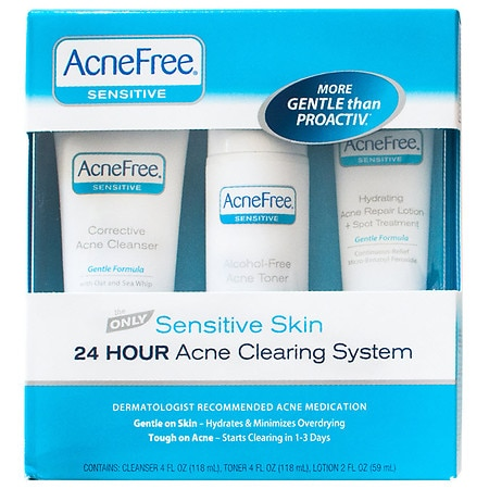 AcneFree 24 Hour Acne Clearing Sensitive Skin Kit - 1 set
