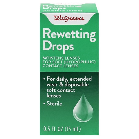 Walgreens Rewetting Drops for Soft Contact Lenses - 0.5 oz.