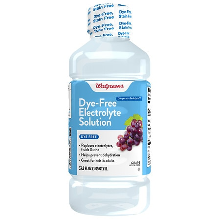 Walgreens Pediatric Oral Electrolyte, Dye Free Grape - 33.8 oz.