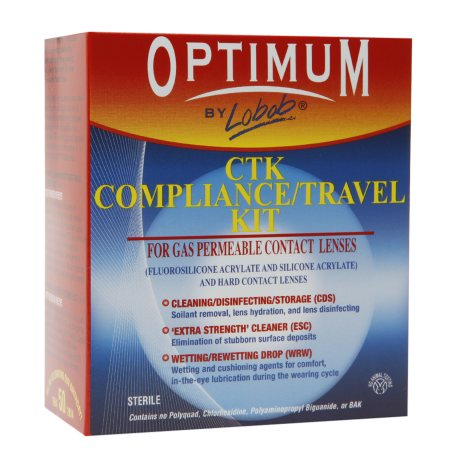 Optimum by Lobob CTK Compliance / Travel Kit for Gas Permeable Contact Lenses - 3 oz.