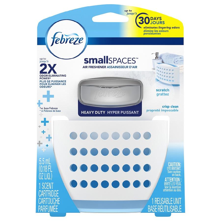 Febreze smallSPACES Heavy Duty Air Freshener Crisp Clean | Walgreens