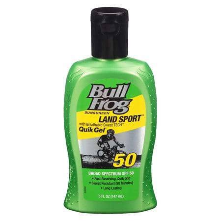 Bull Frog Land Sport Quik Gel Sunscreen, SPF 50 - 5 oz.