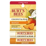 Burt's Bees Lip Balm Blister Box Coconut & Pear Mango Butter, Assorted Flavors
