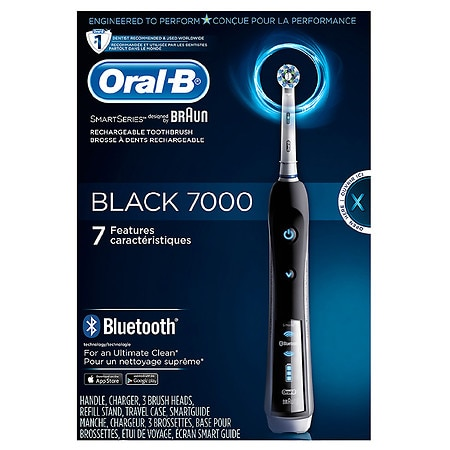 Oral-B 7000 SmartSeries Power Rechargeable Bluetooth Toothbrush Powered by Braun - 1 ea
