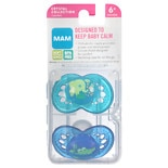 Mam Crystal Orthodontic Soft Silicone Pacifiers 6+ Months Crystal Collection