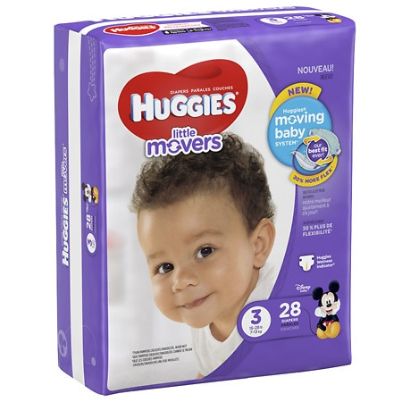 Huggies Little Movers Diapers, Size 3 - 28 ea