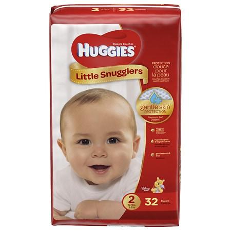 Huggies Little Snugglers Baby Diapers Size 2 - 32 ea
