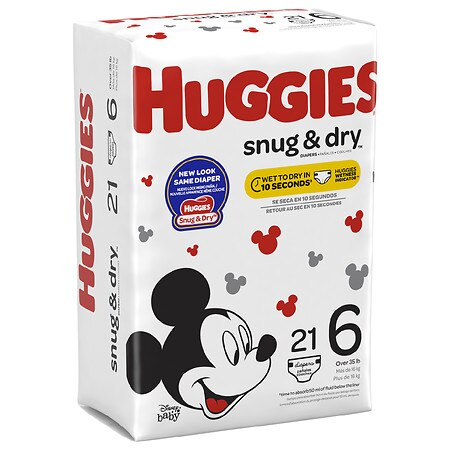 Huggies Snug & Dry Diapers, Size 6 | Walgreens