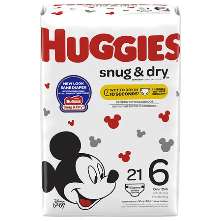 Huggies Snug & Dry Diapers, Size 6 - 21 ea