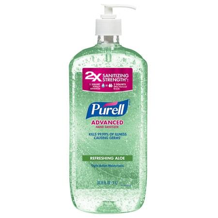 Purell Advanced Hand Sanitizer, Pump Aloe - 33.8 oz.