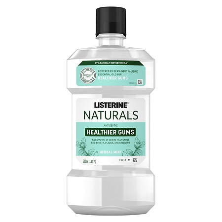 Image of Listerine Naturals Naturals Antiseptic Mouthwash, Herbal Mint Mint - 500.0 fl oz