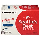 Seattle's Best Coffee Breakfast Blend Medium Roast Ground Coffee K-Cup Pods Spirited Start Breakfast Blend, 10 pk