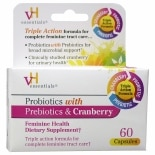 vH essentials Probiotics with Prebiotics & Cranberry Feminine Health, Capsules