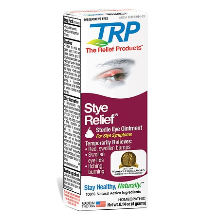 The Relief Products Stye Relief Homeopathic Lubricating Eye Ointment - 0.14 oz.