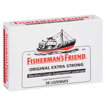 Image of Fisherman's Friend Extra Strong Menthol Cough Suppressant Lozenges Original - 38 ea