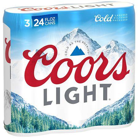 Coors Light Beer - 24 oz. x 3 pack