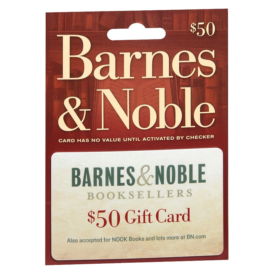 Barnes Noble 50 Gift Card Walgreens