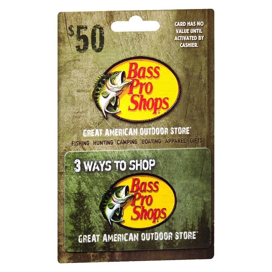 Bass Pro Shops $50 Gift Card | Walgreens