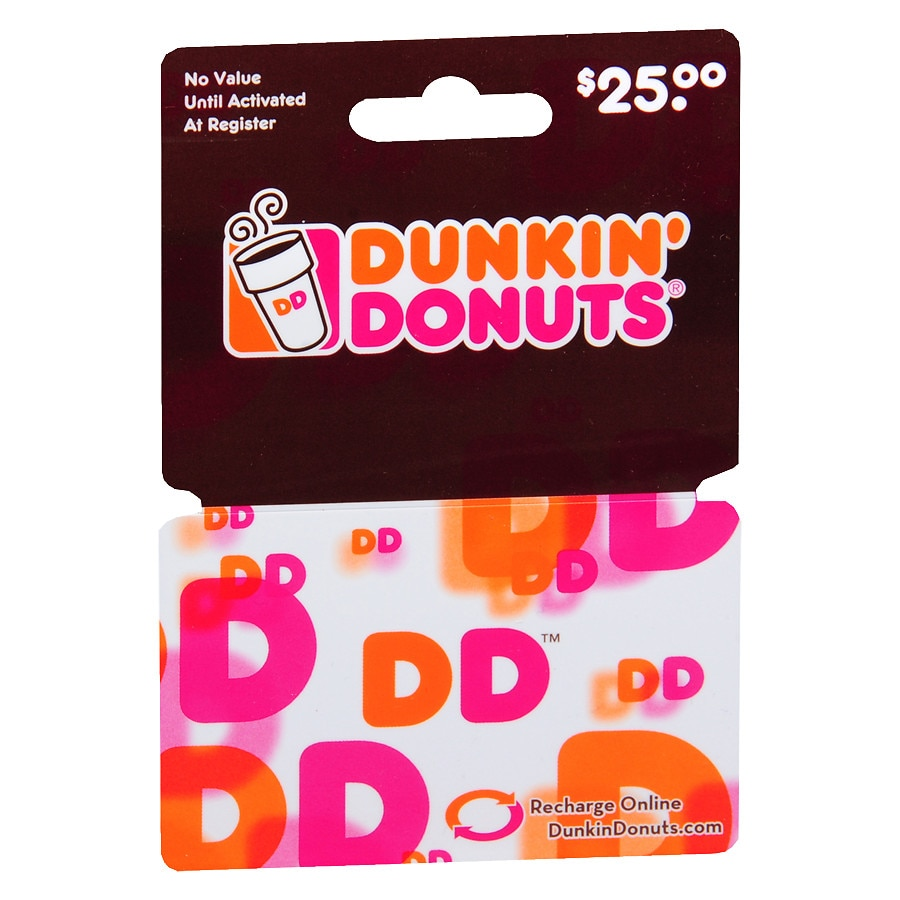 Dunkin donuts 25 gift card walgreens product large image negle Gallery