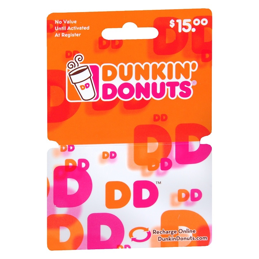 Where to buy dunkin donuts gift card