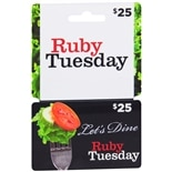 Ruby Tuesday $25 Gift Card