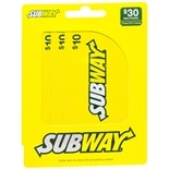 Subway 3 Pack - $10 Gift Cards