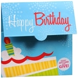 Impressions Gift Card Holder Blue Cake