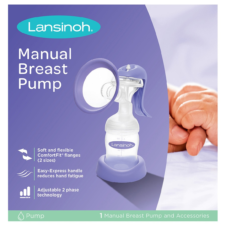 Hand manual breast pump