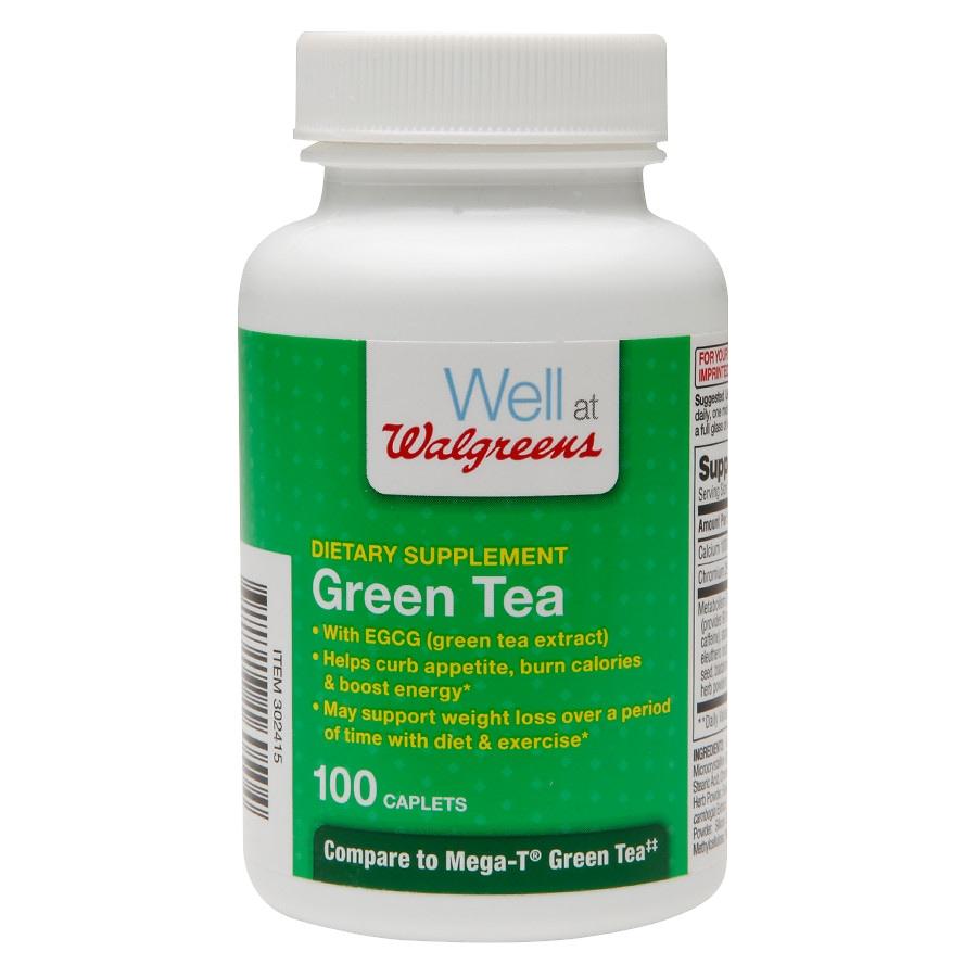 Walgreens Green Tea Dietary Supplements Caplets Walgreens